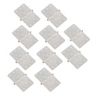 NYLON PINNED HINGES-WHITE (10) L16xW28mm