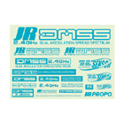 JR DMSS LOGO DECAL A4 TURQUOISE BLUE