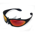 MACGREGOR SUNGLASSES BLACK / RED LENS