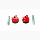 WING BOLTS 1/4-20 (AL) (RED)